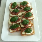bruschetta with prosciutto fresh mozzarella and fresh basil