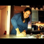 Irmaliz kneading homemade dough